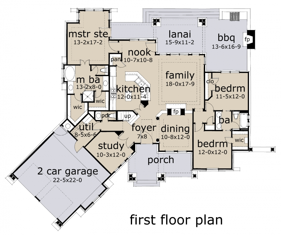 Lattesa Di Vita Traditional Floor Plan David E Wiggins
