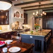 Pleasant Forest European Style Floor Plan Open Kitchen