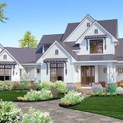 Crystal Falls Modern Farmhouse Front Exterior Render