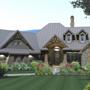 Montagna di Grazioso Country Style Floor Plan Front Render