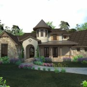 Pleasant Forest European Design Floor Plan Front Exterior